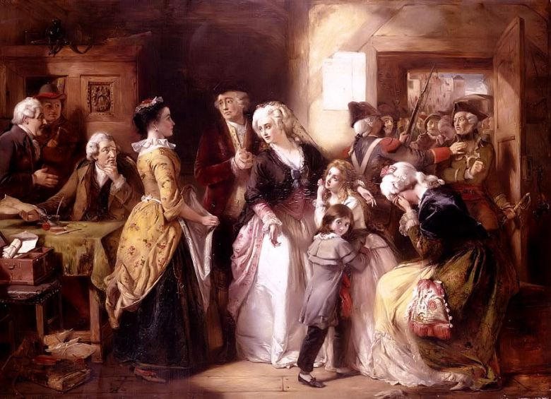 Arrest Of Louis XVI & His Family At House Of Registrar of Passpo
